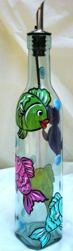 Painted Fish Dispenser