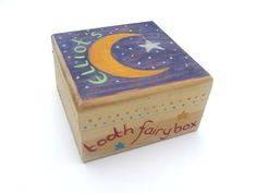 Children's Personalised Tooth Fairy Box, Personalised Trinket Box, Boys or Girls Wooden Tooth Fairy Box