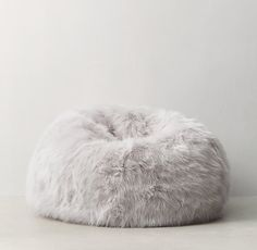11afd662965f Kashmir Faux Fur Bean Bag - Grey