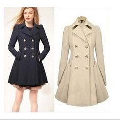 Trendy Detachable Hooded Cape-Style Worsted Solid Color Coat For ...