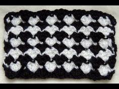 Crochet : Punto Fantasia en Blanco y Negro # 2 - YouTube