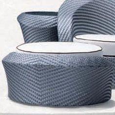 100 Essentials Eclipse Foot Stool with Cushion Finish: Java Antique, Fabric: Sunbrella Antique Beige