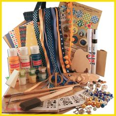 Supply Sack from DIYGreek.com. Everything you need to make the best sister gifts. Custom Stencils, Paints, Great Ribbons, Wood Letters, Charms, Beads, AND TONS MORE> all only $24.99  #phi sig, #phi sigma sigma, #craft, #sorority, #little sister, #gift, #greek, #handmade