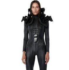 Gelareh-Women's Leather Aragon Shoulder Bolero : Ceiba SF Broad Shoulders, Aragon, Simple Dresses, Bodysuit, Silhouette, Spikes, Leather, Shopping, Clothes