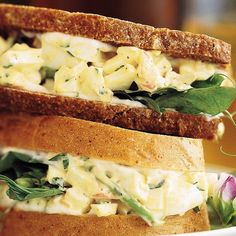Healthy egg breakfast ideas go far beyond hard-boiled eggs. Start your day in delicious, high-protein style with these easy healthy egg breakfast recipes including sandwiches and the perfect sunny side up egg. Egg Salad Sandwiches, Soup And Sandwich, Sandwich Recipes, Egg Recipes, Salad Recipes, Cold Sandwiches, Dessert Recipes, Healthy Recipes, Lunch Recipes