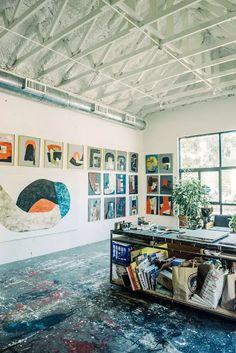 Art Studio Room, Art Studio At Home, Studio Spaces, Studio Layout, Art Studio Design, Painters Studio, Female Painters, Studios Architecture, Dream Studio