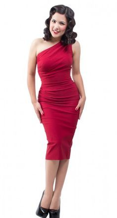 Red Wiggle Dress and Black High Heels.  I'd like to see her WIGGLE out of that dress and into bed with me.