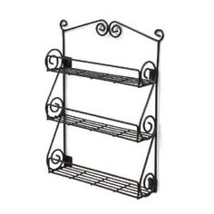 Cute spice rack that would be great for holding nail polish! Looks like it holds about 24 OPI size bottles.