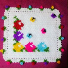 This Pin was discovered by eme Crochet Blocks, Crochet Squares, Crochet Blanket Patterns, Filet Crochet, Knit Crochet, Teapot Cover, Yarn Shop, Vintage Patterns, Needlework