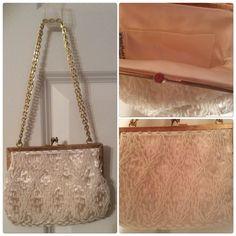 Elegant Pearl Beaded Evening Bag Ivory Elegant Pearl Beaded Bag Bags Clutches & Wristlets