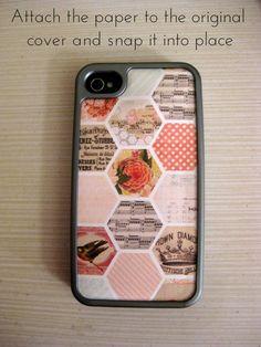 Super easy!   DIY: Five-Minute Phone Case Refashion    >>>via themodernausten.com