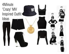 """""""4Minute 'Crazy' MV Inspired Outfit Ideas"""" by zin-s ❤ liked on Polyvore featuring J.TOMSON, T By Alexander Wang, Proenza Schouler, Rick Owens Lilies, Wood Wood, Fahrenheit and Satya Jewelry"""