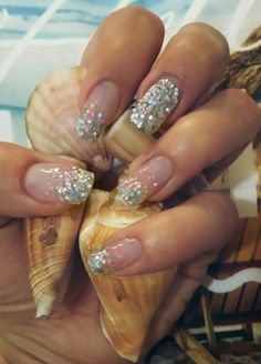 Summer glitter nails by nails art.