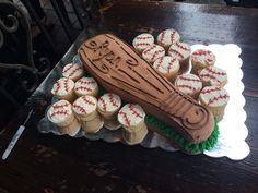 Baby first birthday baseball cake