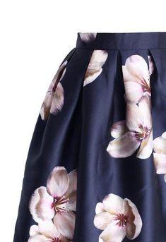 Satin Peach Blossom Skirt