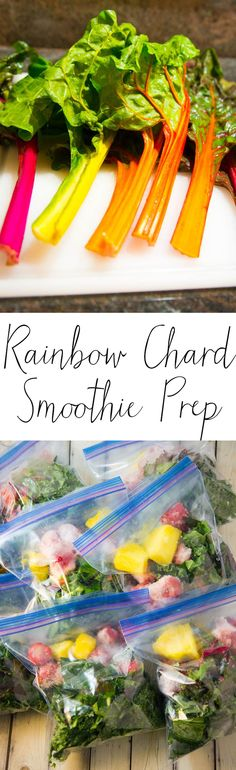 Rainbow Chard Smoothie Prep - stock your freezer with yummy, super healthy smoothie kits so that you can just pop them in your blender whenever you need one! Homemade Smoothies, How To Make Smoothies, Fruit Smoothie Recipes, Smoothie Prep, Easy Smoothies, Strawberry Banana Yogurt Smoothie, Yogurt Smoothies, Just Juice, Rainbow Chard
