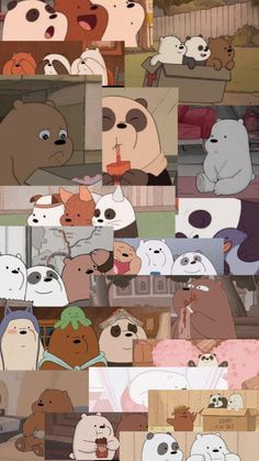 Dark Wallpaper Iphone, Cartoon Wallpaper Iphone, Bear Wallpaper, Cute Disney Wallpaper, Cute Wallpaper Backgrounds, We Bare Bears Wallpapers, Panda Wallpapers, Cute Wallpapers, Cartoon Profile Pictures
