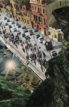 thoroughfare by Katie Mackowick  http://www.flickr.com/photos/kmackowick/ #collage #surrrealism