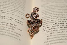 wire wrapped jewelry handmade ring - copper ring - adjustable ring -  copper jewelry - wire jewelry -copper jewelry
