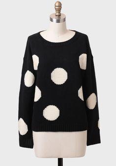 Megan Polka Dot Sweater at #Ruche @Ruche
