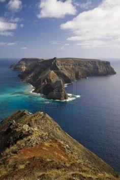 Ilhéu da Cal isla de Porto Santo, Madeira, Portugal
