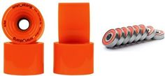 Orangatang In Heat 75mm 80a Orange Longboard Wheels Set of 4 With Bearings and Sticker Pack by Orangatang. $55.00. Brand New
