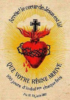 Alto! O Sagrado Coração está comigo! Venha a nós o vosso Reino!