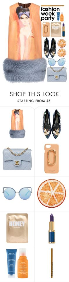 """""""/.FWparty2./"""" by semashamrr ❤ liked on Polyvore featuring Prada, Marc Jacobs, Chanel, Matthew Williamson, Lapcos, Balmain, Aveda and NYX"""