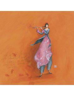 """Gaëlle Boissonnard carte postale carrée (14 cm) """"La musique du vent"""""""