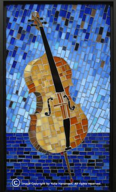 Yulia Hanensen Paper Mosaic, Mosaic Wall Art, Mosaic Diy, Mosaic Crafts, Mosaic Projects, Mosaic Glass, Glass Art, Faux Stained Glass, Stained Glass Designs
