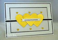 The Stamping Blok: Engagement Card By Rochelle Blok #rochelleblok #engagement #stampinup