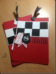 Racing themed party invites