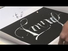 How To Do Modern Calligraphy - YouTube