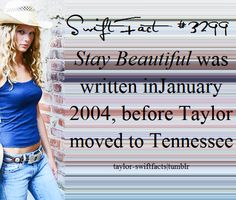 Taylor wrote that song when she was 14!! Gosh she's talented ❤