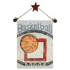 Basketball Hand Painted Canvas Banner - Jack and Jill Boutique