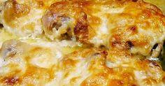 Mustáros-fokhagymás-tejfölös mártásban sült csirkecombok Hawaiian Pizza, Lasagna, Macaroni And Cheese, Ethnic Recipes, Food, Mac And Cheese, Essen, Meals, Yemek