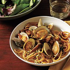 Linguine with Clams and Fresh Herbs | CookingLight.com