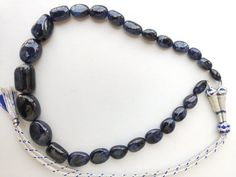 Blue Sapphire Necklace, Blue Necklace, Beaded Necklace, Jewelry Shop, Jewelry Making, Natural Ruby, Indian Jewelry, Necklace Lengths, My Etsy Shop