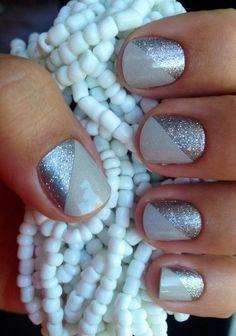 Más de 30 diseños de uñas color plateado – IMPERDIBLE !   Decoración de Uñas - Manicura y Nail Art