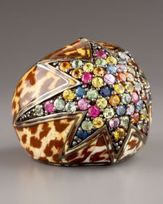 Starstruck Leopard & Sapphire Ring by MCL by Matthew Campbell Laurenza at Bergdorf Goodman.