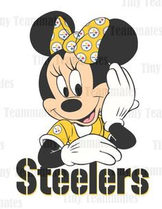 Minnie's Favorite Team #Pittsburgh #Steelers  by TinyTeammates, $5.00
