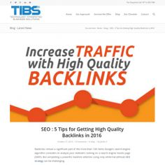 SEO : 5 Tips for Getting High Quality Backlinks in 2016 | Visual.ly