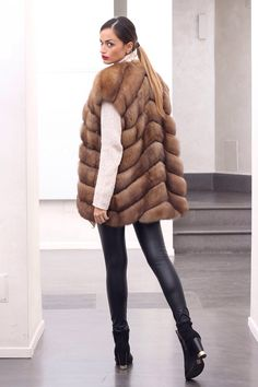 Russian Tortora Sable Fur Vest