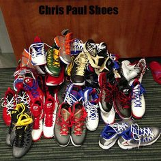 Several pairs of Chris Paul's Shoes!