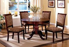 Dining Sets 107578: Furniture Of America St Nicholas Ii Antique Cherry 5 Pc Round Dining Table Set -> BUY IT NOW ONLY: $638.99 on eBay!