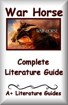 War Horse, Warhorse, War This is a 116 page Complete Literature Guide/Novel Study Unit and Assessment Pack for War Horse by Michael Morpurgo. Chapter questions, tests, quizzes, vocabulary, writing assignments, grammar activities, readers' theatre and much more! Put away boring test prep, and teach the five Common Core areas of Language Arts - reading informational, reading literature, writing, speaking and listening, and language - using this literature guide and a book that students will…
