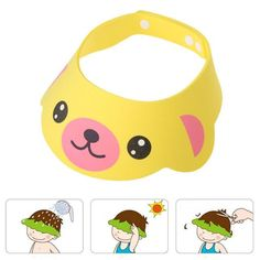 Cute Adjustable Bath Hat Baby Kids Shampoo Cap Bath Shower Cap Wash Hair Shield Baby Shower Products
