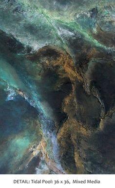 "Tidal Pool, Acrylic and Mixed Media on Canvas, 36"" x 36"" Laura Swink, Fine Art…"