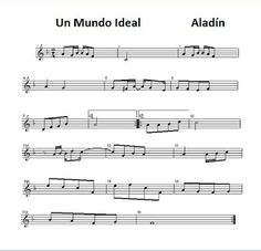 diegosax: A Whole new world Un Mundo Ideal de Aladín. Letra, acordes y partitura para flauta. BSO.