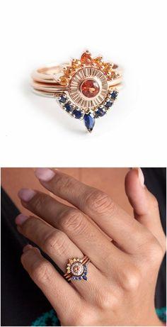 Sapphire Wedding Rings / http://www.deerpearlflowers.com/sapphire-engagement-rings/2/